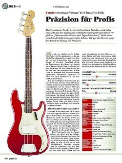 Guitar Gear bass: Fender American Vintage '63 P-Bass RW SMR