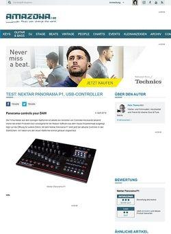 Amazona.de Test: Nektar Panorama P1, USB-Controller