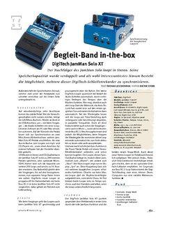 Gitarre & Bass DigiTech JamMan Solo XT, Looper-Pedal