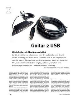 Gitarre & Bass Alesis GuitarLink Plus & AcousticLink, Interface-Kabel