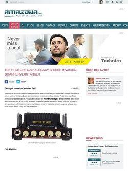 Amazona.de Test: Hotone Nano Legacy British Invasion, Gitarrenverstärker