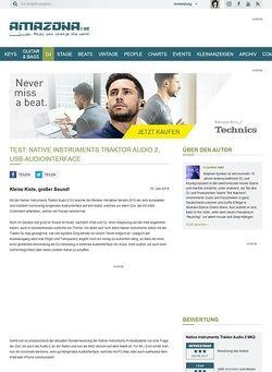 Amazona.de Test: Native Instruments Traktor Audio 2, USB-Audiointerface