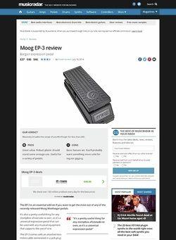 MusicRadar.com Moog EP-3