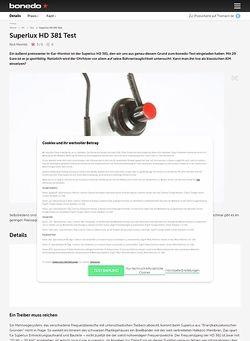 Bonedo.de Superlux HD 381