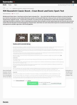 Bonedo.de RMI Basswitch Classic Boost , Clean Boost und Sonic Spark