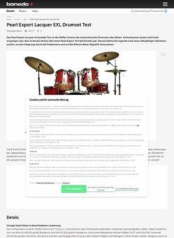 Bonedo.de Pearl Export Lacquer