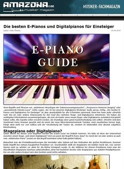 Amazona.de Special: Digitalpiano Einsteiger Guide 2014