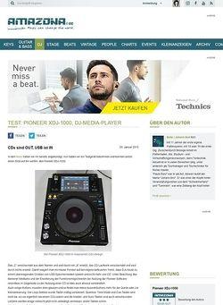 Amazona.de Test: Pioneer XDJ-1000, DJ-Media-Player