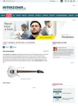 Amazona.de Test: Ibanez JS140-WH, E-Gitarre