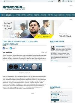 Amazona.de Test: Presonus AudioBox iTwo, USB-Audiointerface