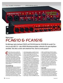 KEYS Behringer FCA610 & FCA1616