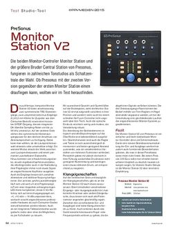 KEYS PreSonus Monitor Station V2
