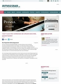 Amazona.de Test: Electro Harmonix B9 Organ Machine, Effektgerät