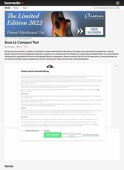 Bonedo.de Bose L1 Compact Test