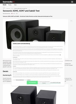 Bonedo.de Swissonic ASM5, ASM7 und Sub10