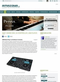 Amazona.de Test: Gemini GMX, DJ Controller, USB-Player