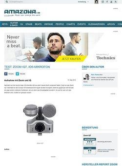 Amazona.de Test: Zoom iQ7, iOS-Mikrofon