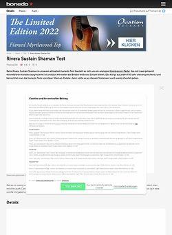 Bonedo.de Rivera Sustain Shaman