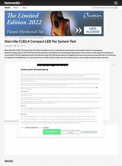 Bonedo.de Stairville CLB2.4 Compact LED Par System