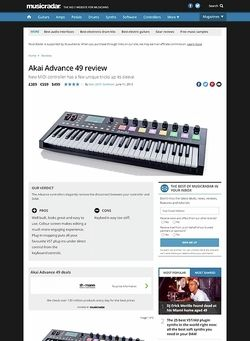 MusicRadar.com Akai Advance 49