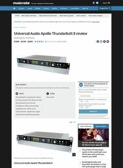 MusicRadar.com Universal Audio Apollo Thunderbolt 8
