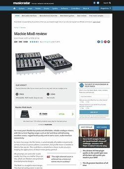 MusicRadar.com Mackie Mix8
