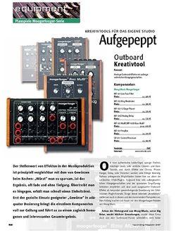 Recording Magazin Planspiele: Aufgepeppt – Moog-Music Moogerfooger