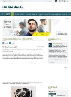 Amazona.de Test: AKG K-181-DJ, DJ-Kopfhörer