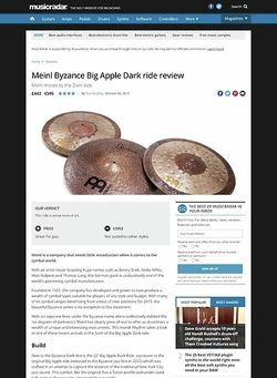 MusicRadar.com Meinl Byzance Big Apple Dark ride