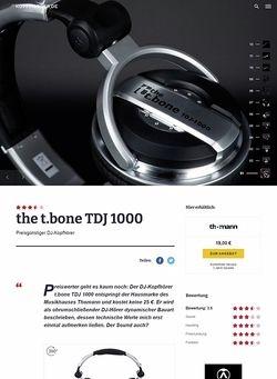 Kopfhoerer.de the t.bone TDJ 1000