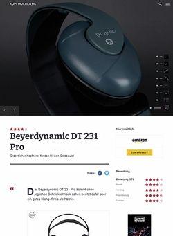 Kopfhoerer.de Beyerdynamic DT-231 Pro