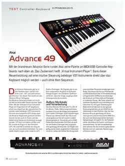 KEYS Akai Advance 49