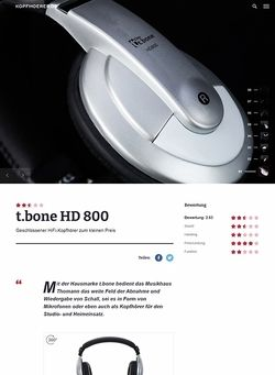 Kopfhoerer.de the t.bone HD 800