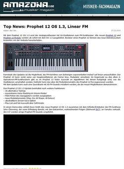 Amazona.de Top News: Prophet 12 OS 1.3, Linear FM
