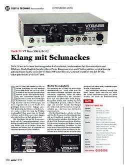 guitar Tech 21 VT Bass 500 & B-112