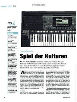 tastenwelt Yamaha PSR-A3000