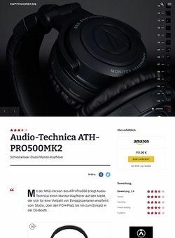 Kopfhoerer.de Audio-Technica ATH-Pro500 MKII BK
