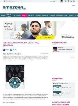Amazona.de Test: Electro Harmonix Crash Pad, Stompbox