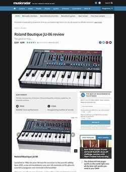 MusicRadar.com Roland Boutique JU-06