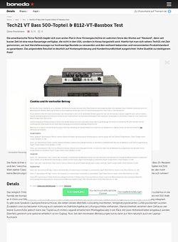 Bonedo.de Tech21 VT Bass 500-Topteil & B112-VT-Bassbox