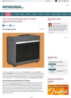Amazona.de Test: Fender Bassbreaker 15 Combo, Gitarrenverstärker