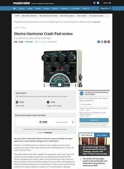 MusicRadar.com Electro-Harmonix Crash Pad