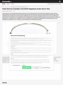 Bonedo.de Pearl Dennis Chambers DC1450S Signature Snare Drum