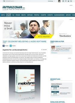 Amazona.de Test: Celemony Melodyne 4, Audio Software