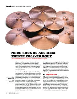 Sticks Paiste 2002 Big Beat Cymbals