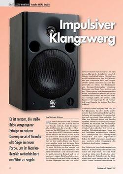 Professional Audio Impulsiver Klangzwerg Yamaha MSP5 Studio