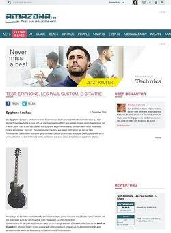Amazona.de Test: Epiphone, Les Paul Custom, E-Gitarre