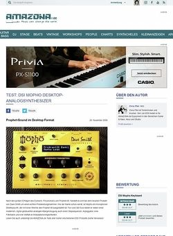 Amazona.de Test: Dave Smith Instruments Mopho
