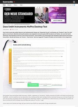 Bonedo.de Dave Smith Instruments MoPho