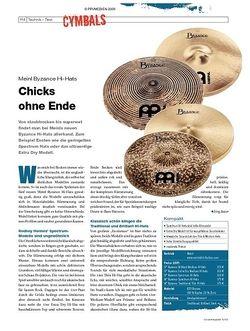 DrumHeads Instrumente & Technik: Meinl Byzance Hi-Hats